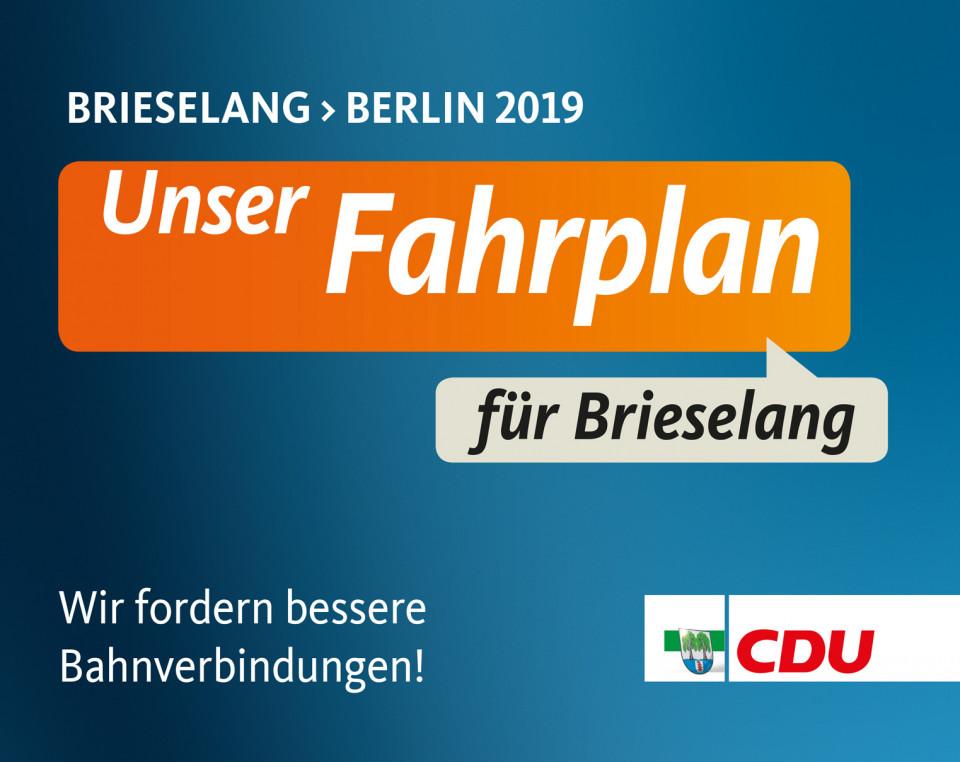 Die CDU verteilt wieder zum Fahrplanwechsel den neuen Fahrplan